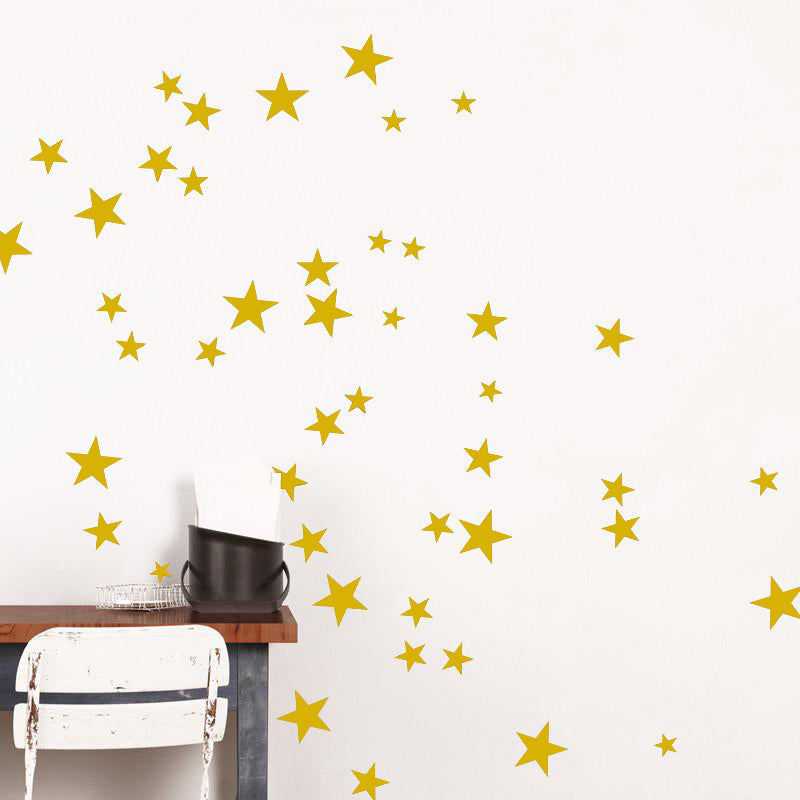 ADzif Gold Star Wall Decal | kids at home