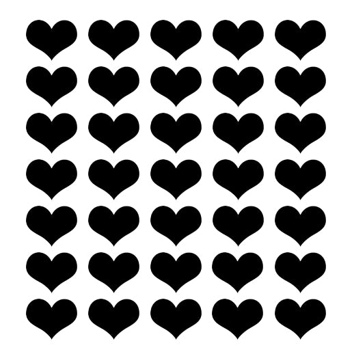 ADzif Little Black Hearts Wall Stickers | kids at home
