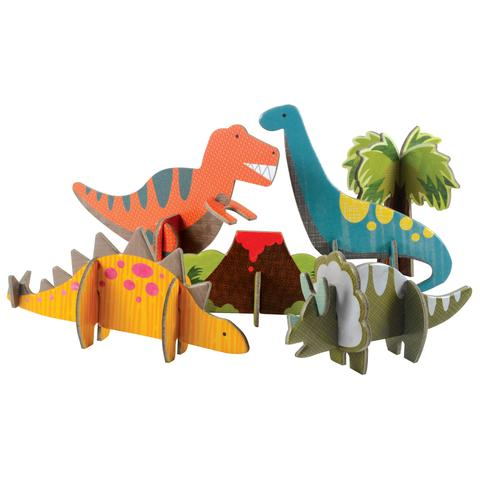 Petit Collage Pop-out and Build Dinosaur Playset Toys | kids at home