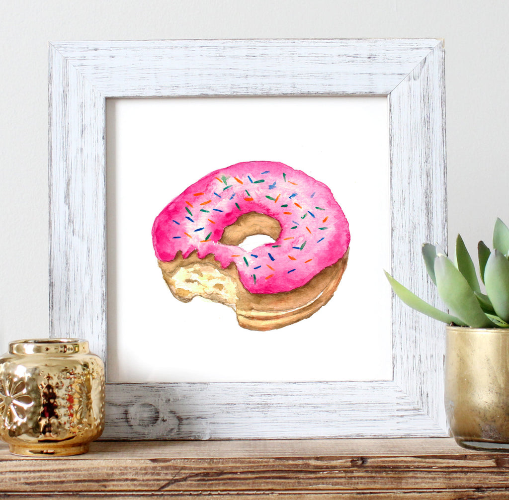 Doughnut Watercolour Print