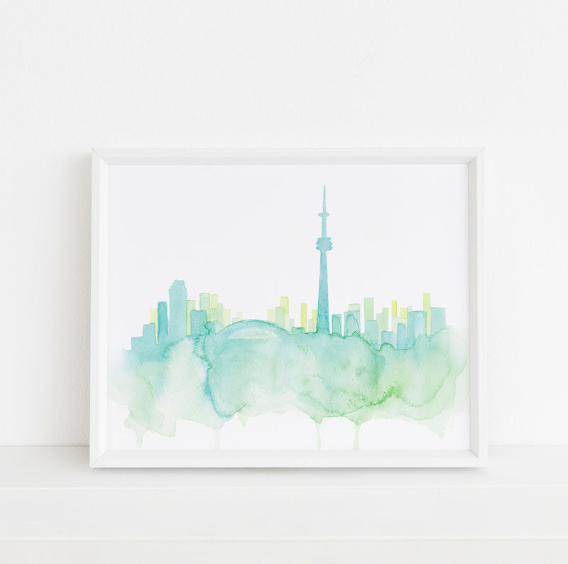 Toronto Watercolour Print