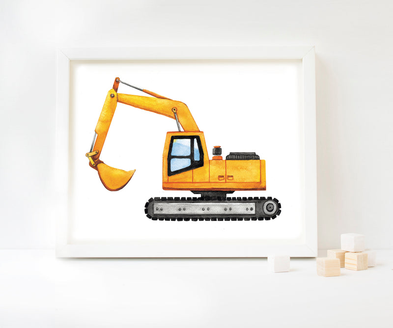 Digger Watercolour Art Print