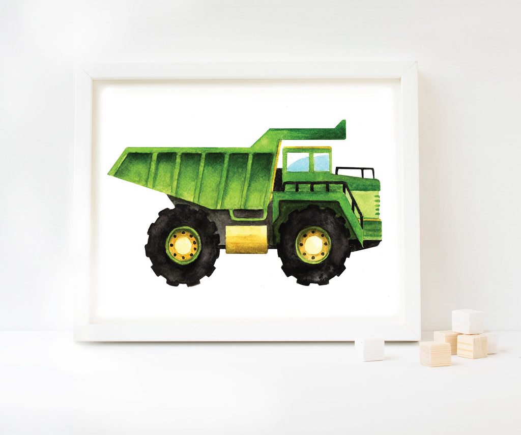 Dump Truck Watercolour Art Print