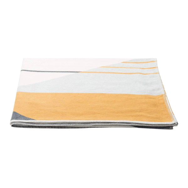 Jade 100% organic cotton throw ''graphic-lines''