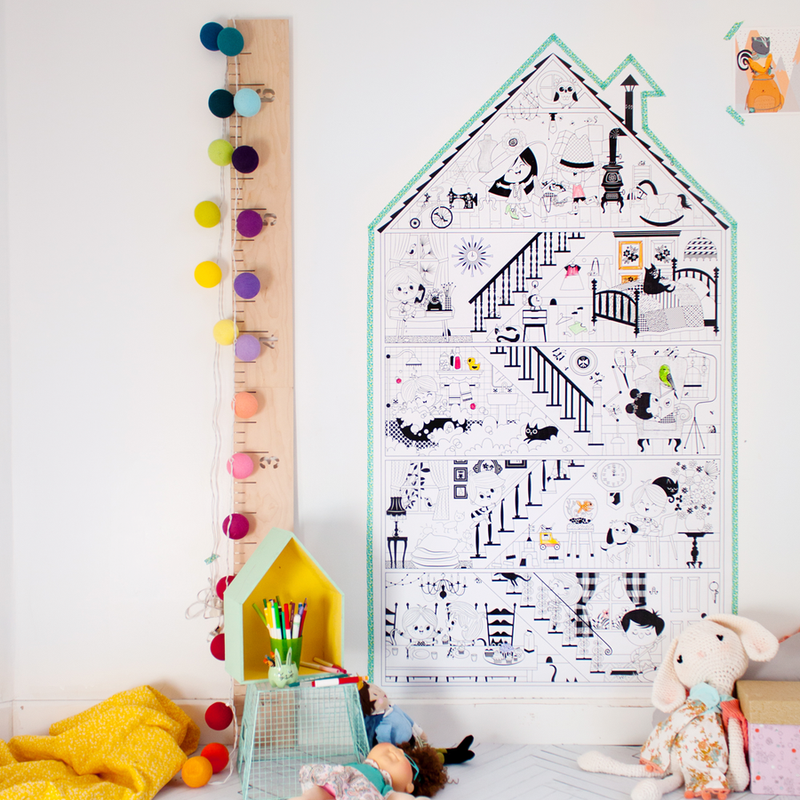 Atelier Rue Tabaga Giant Colouring Poster - My Little House Toys | kids at home
