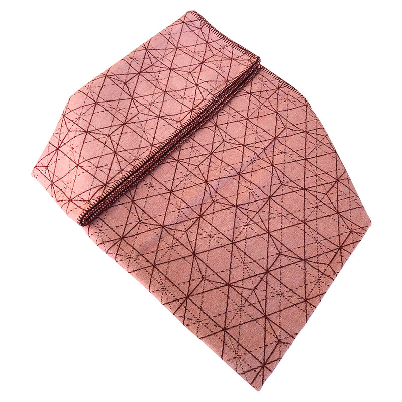 David Fussenegger Nova Grid - Soft Blush Blankets | kids at home