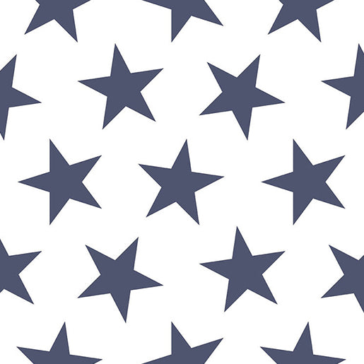 Sissy + Marley Navy Lucky Star Wallpaper | kids at home