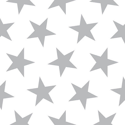Sissy + Marley Silver Metallic Lucky Star Wallpaper | kids at home