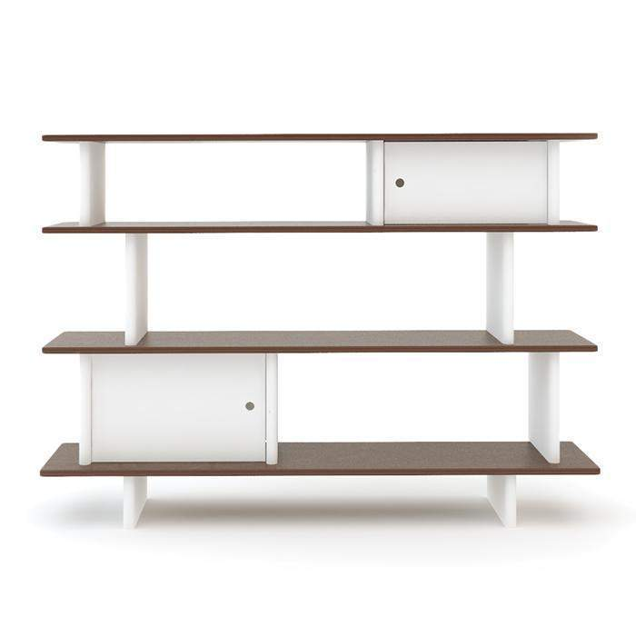 Oeuf Mini Library - Walnut Shelving | kids at home