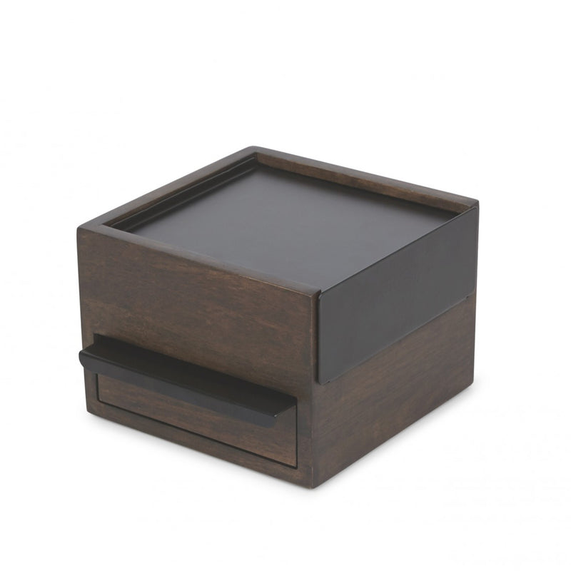 Umbra Mini Stowit Jewellery Box Walnut Storage | kids at home