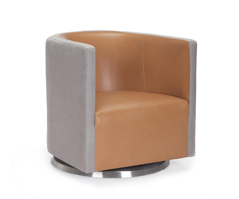 Monte Design | Mitchell Swivel 2-Tone Chair