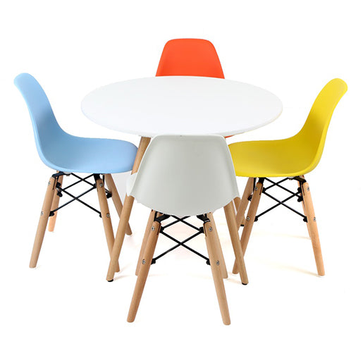 Plata Import | Modern Play Table and Four Chair Set (Wooden)