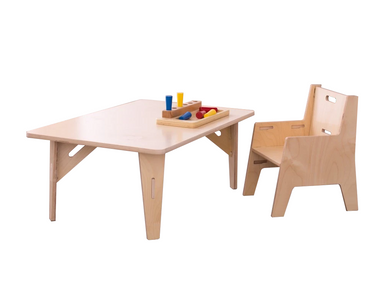 Adjustable Montessori Weaning Table and Chair Set