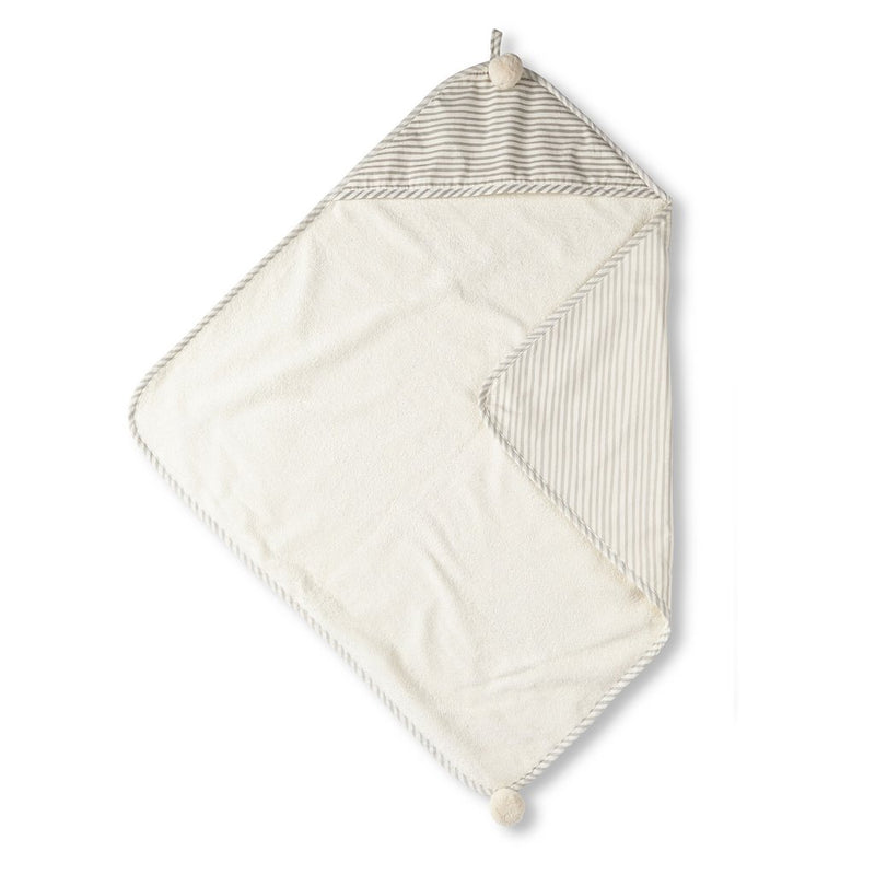 Pehr | Stripes Away Hooded Towel - Pebble