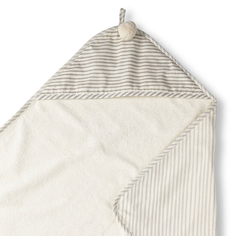 Pehr Stripes Away Hooded Towel - Pebble | kids at home