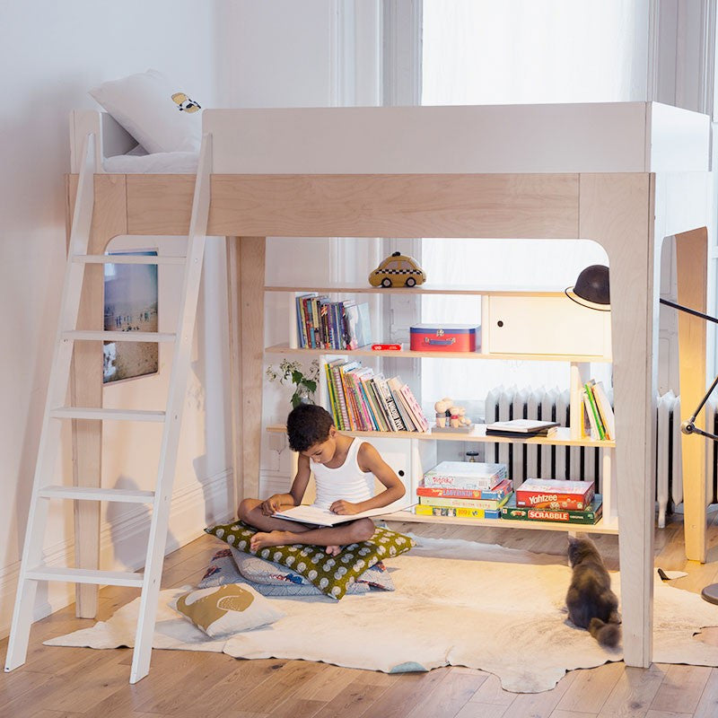 Perch Full Size Loft Bed - Walnut