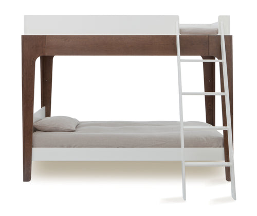 Oeuf Perch Bunk Bed Walnut and White | kids at home