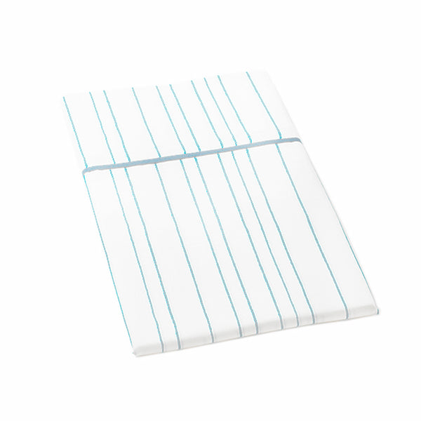 Auggie Standard Pillow Case - Painted Stripe Blue