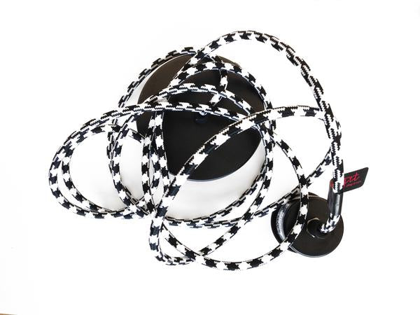Cord Black & White Houndstooth - Black