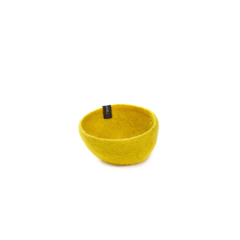 Muskhane Medium Plain Felt Bowl - Sulphur Flower Storage | kids at home