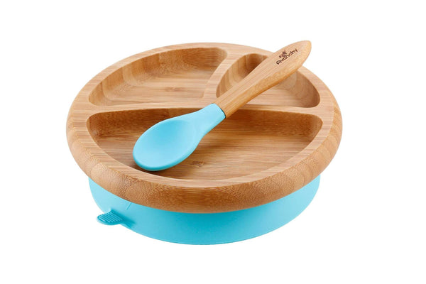 Bamboo Baby Suction Plate + Spoon