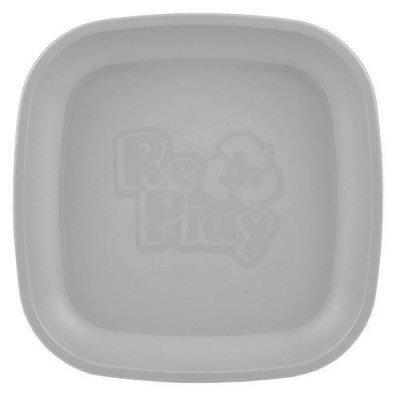 Re-Play Recycled Plastic Flat Plate - Grey | kids at home