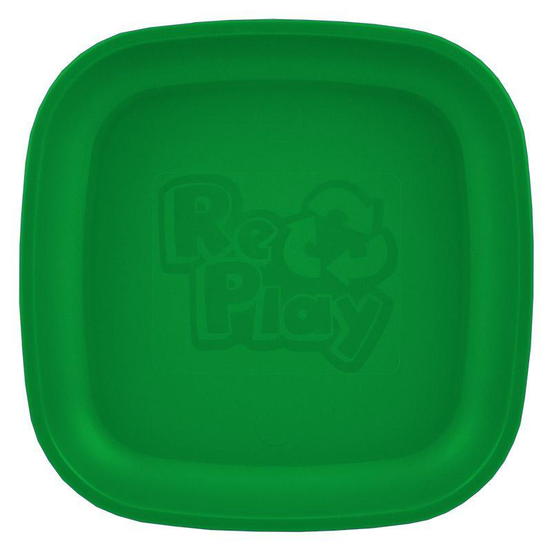 Re-Play Recycled Plastic Flat Plate - Kelly Green | kids at home