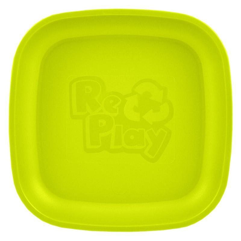 Re-Play Recycled Plastic Flat Plate - Lime Green | kids at home