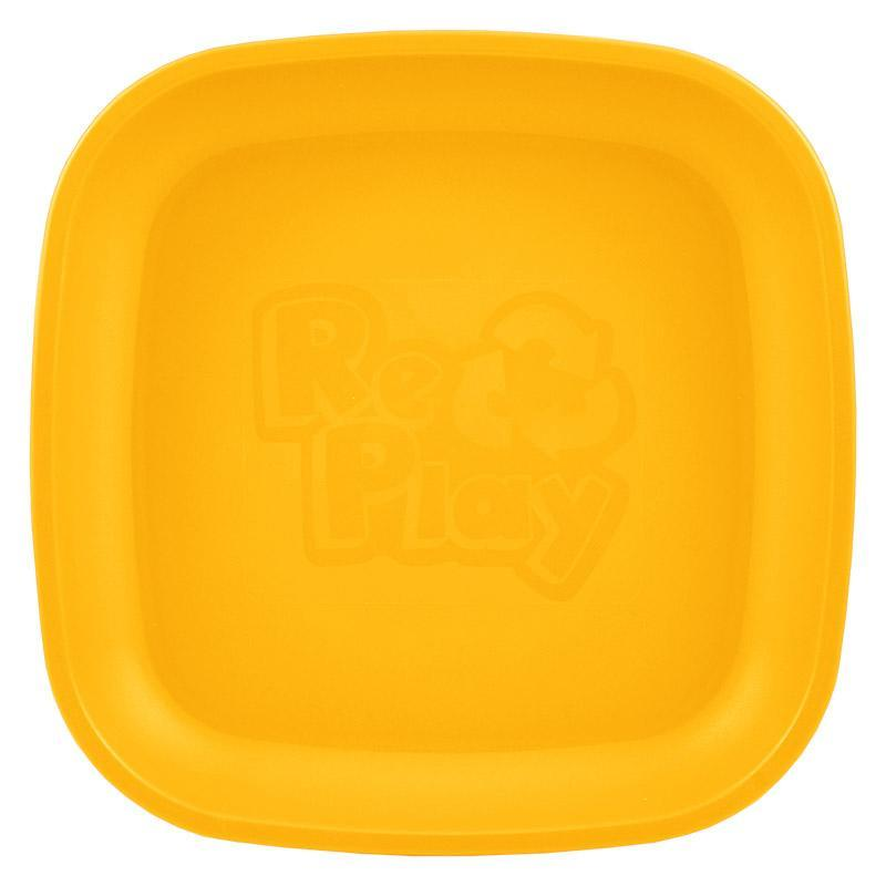 Re-Play Recycled Plastic Flat Plate - Sunny Orange | kids at home
