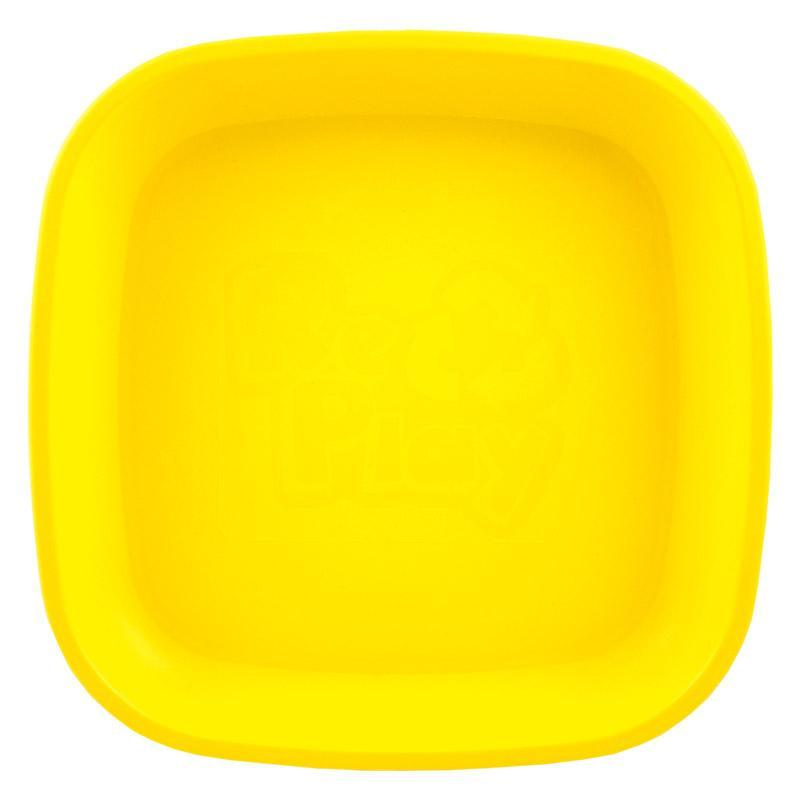 Re-Play Recycled Plastic Flat Plate - Yellow | kids at home