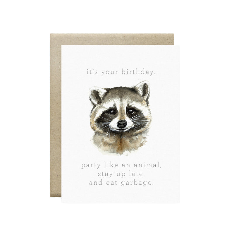 Wild Canary Studio - Greeting Cards Raccoon | kids at home