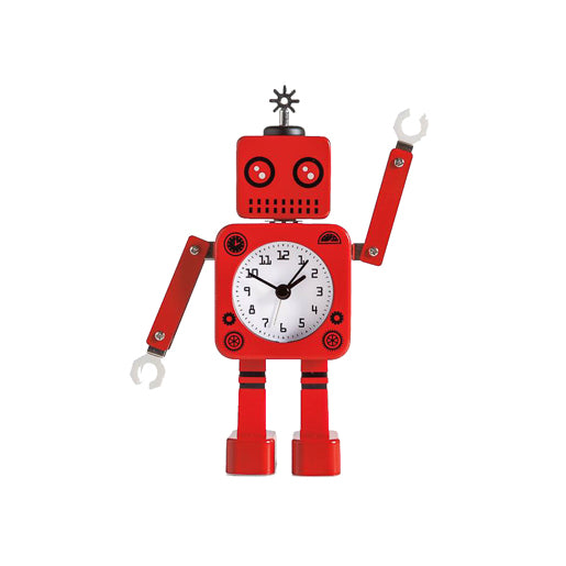 Torre & Tagus Robot Alarm Clock - Red | kids at home