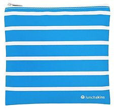 Lunchskins Zip Bag - Medium - Aqua Stripe | kids at home
