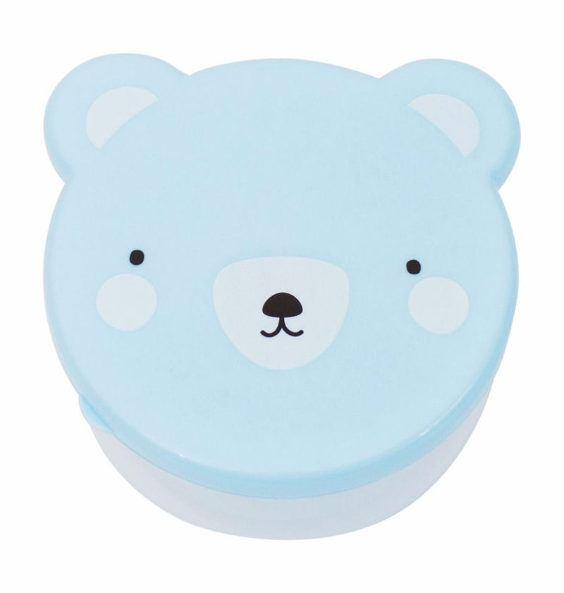 A Little Lovely Company Blue Bear Snack Box | kids at home