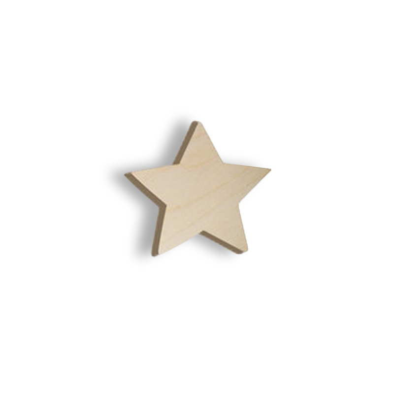 Wooden hook - star | kids at home