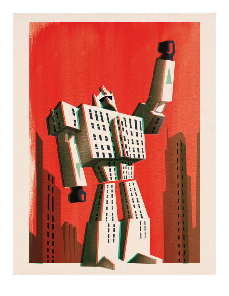 Sur Ton Mur Pascal Blanchet Transformer Limited Edition Print | kids at home