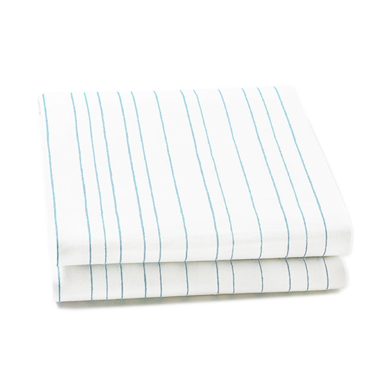 Auggie | Auggie Fitted Sheet - Painted Stripe Blue (Twin)