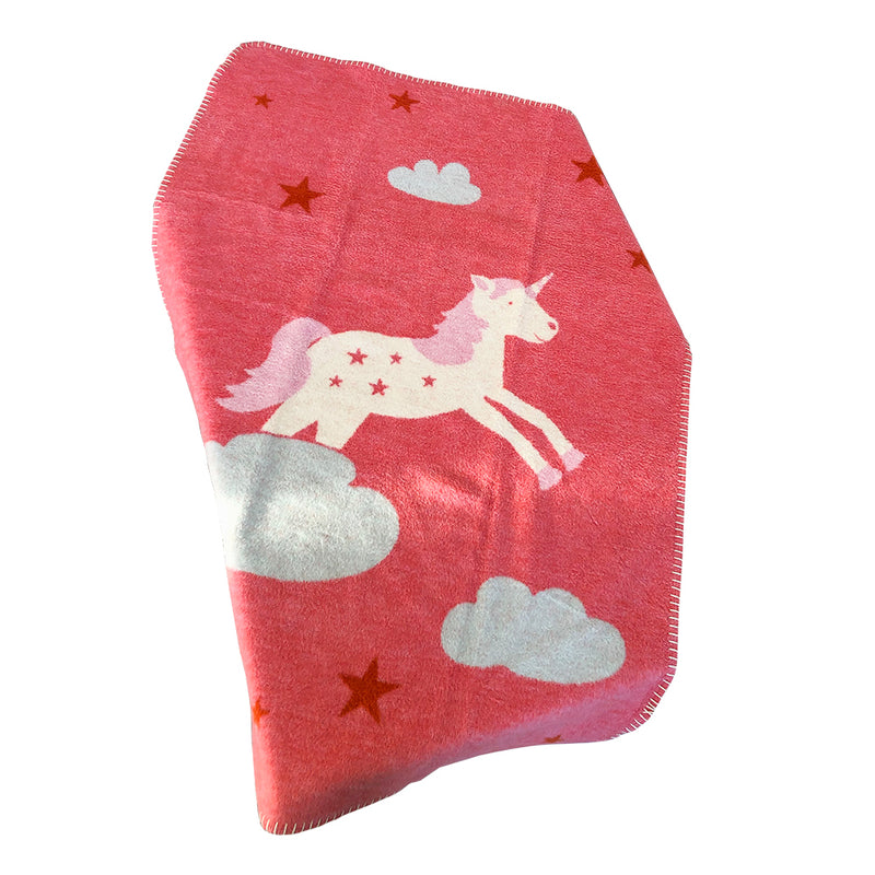 David Fussenegger Mila Unicorn Pink Blankets | kids at home