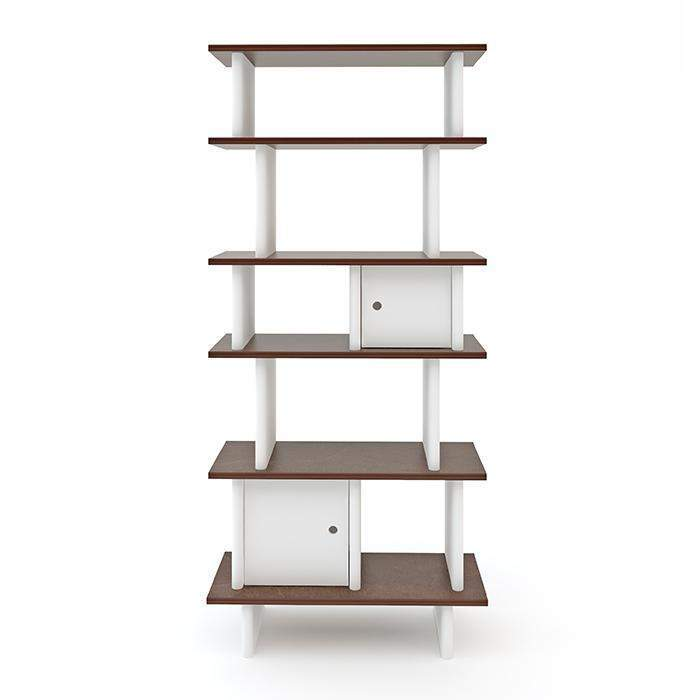 Oeuf Vertical Mini Library - Walnut Shelving | kids at home