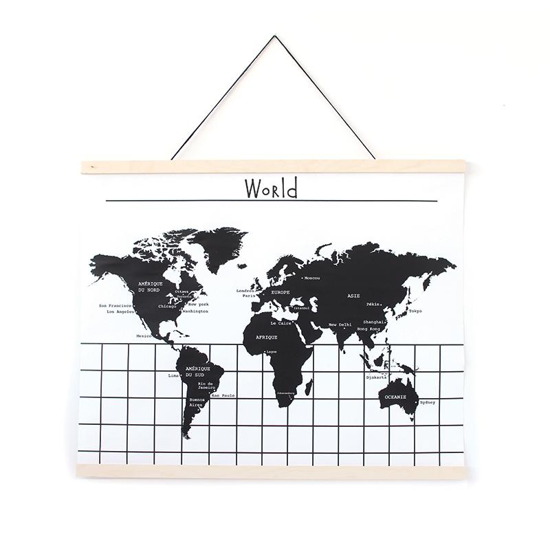 Gautier Studio | Canvas Wall Hanging - World Map (EN)
