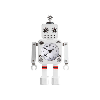 Torre & Tagus Robot Alarm Clock - White | kids at home