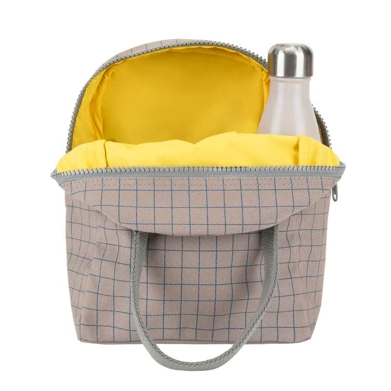 Zipper Lunch Bag - Grid