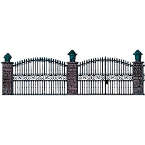 Busch HO Wrought Iron Fence