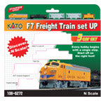 Kato N Scale F7 Freight Train Set