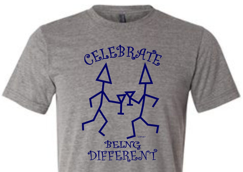 Celebrate Being Different Tri-Blend T-Shirt