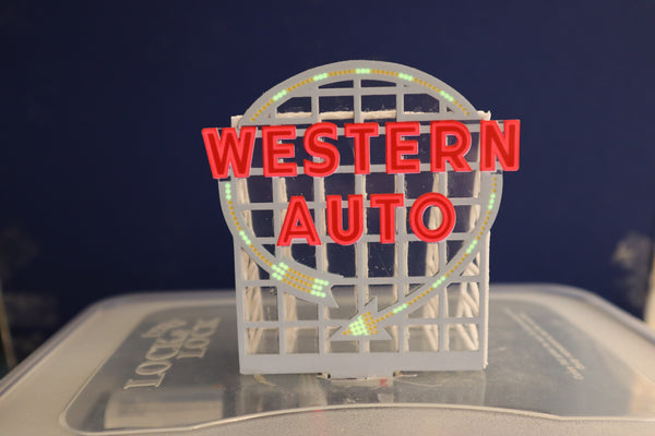 Western Auto Sign Frame