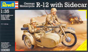 Revell 1/35 R-12 German Motorcycle w/Sidecar