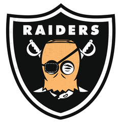 Raiders Parody Football Logo
