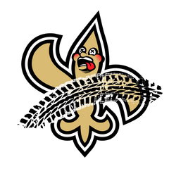 Saints Funny Hilarious Football Logo