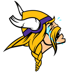 Vikings Funny Hilarious Football Logo